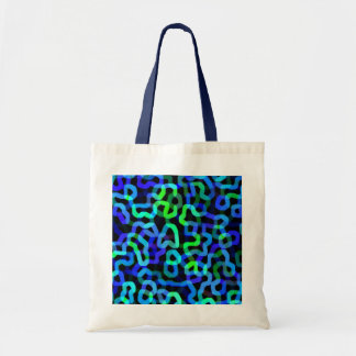 Neon Tubes, Squirts and Spagetti Strings Budget Tote Bag