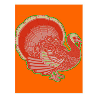 neon turkey post cards