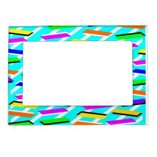 Neon Turqouise Pattern Magnetic Frame