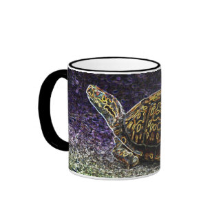 Neon Turtle Ringer Coffee Mug