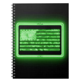 Neon U.S. Flag Notebook