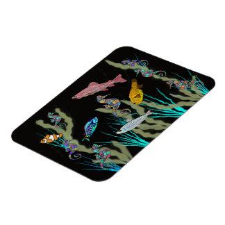 Neon Underwater Fantasy Premium Magnet