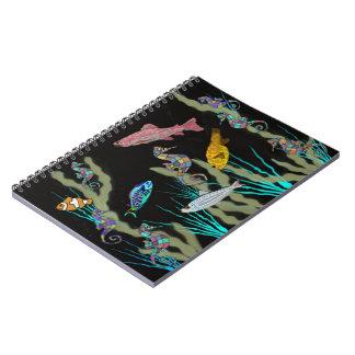 Neon Underwater Fantasy Spiral Notebooks