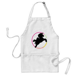 Neon unicorn! adult apron