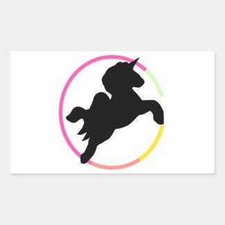 Neon unicorn! rectangular sticker