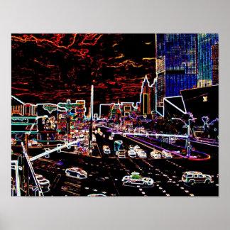 Neon Vegas Strip Poster