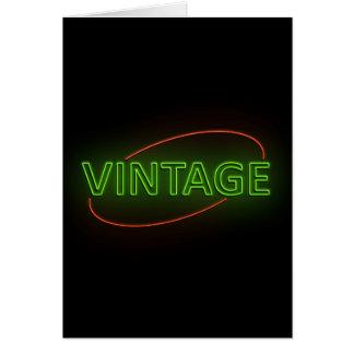 Neon vintage. card