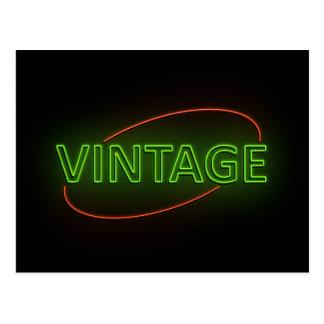 Neon vintage. postcard