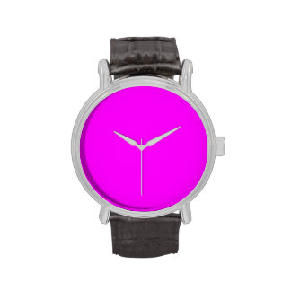 Neon Violet Purple Color Trend Blank Template Watches