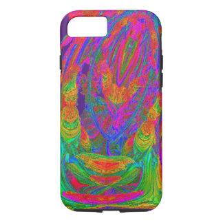 NEON VOODOO WICK FLAME MANDELBULB 3D. FRACTAL IMG iPhone 8/7 CASE