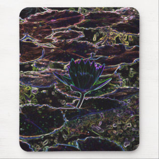 Neon Water Lily Mousepad