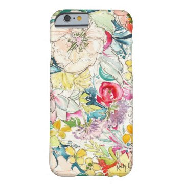 Neon Watercolor Flower iPhone 6 case at Zazzle