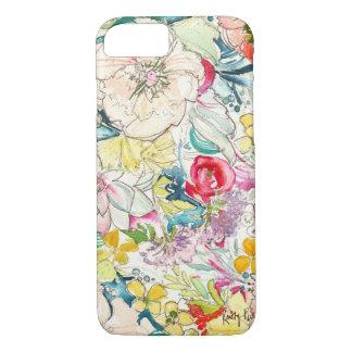 Neon Watercolor Flower iPhone 7 case