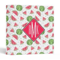 Neon Watercolor Watermelons Pattern Binder