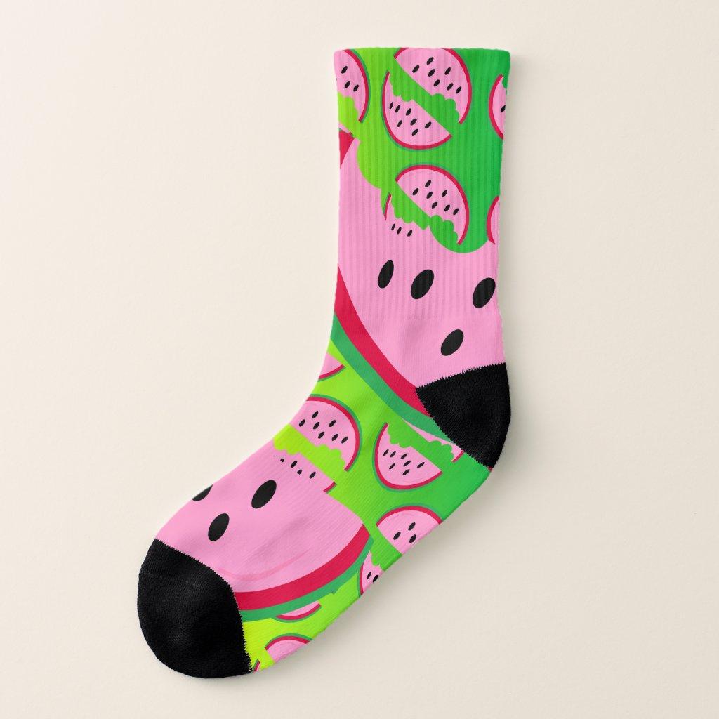Neon Watermelon Socks