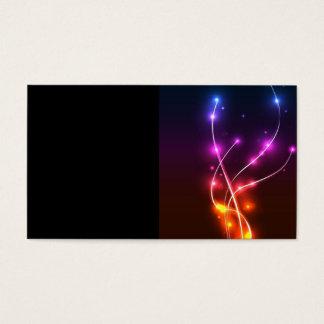 Neon-Wave-Vector-Background NEON WAVE SWIRLS LIGHT Business Card