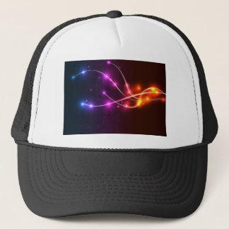 Neon-Wave-Vector-Background NEON WAVE SWIRLS LIGHT Trucker Hat