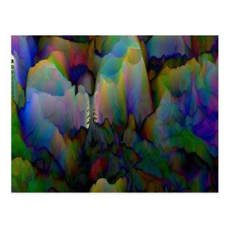 Neon Waves Postcard