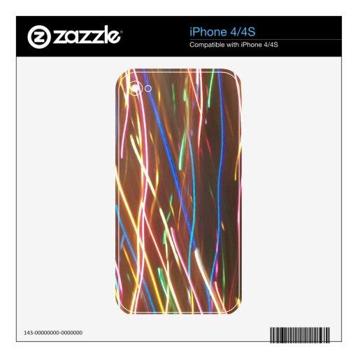 Neon Weave iPhone 4 Decals