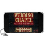Neon Wedding Chapel Sign in Las Vegas, USA iPod Speaker