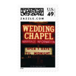 Neon Wedding Chapel Sign in Las Vegas, USA Stamps
