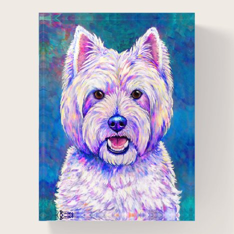 Neon West Highland White Terrier Dog Paperweight