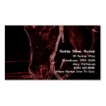 Neon Western Horse Business Card Template