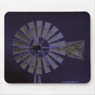 Neon Windmill Mouse Pad