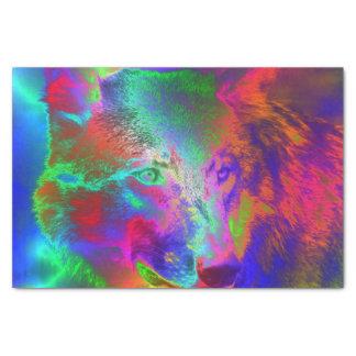 """NEON wolf 10"""" X 15"""" Tissue Paper"""