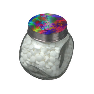 NEON wolf Glass Jars