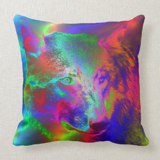 NEON wolf Pillows