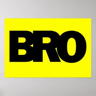 Neon Yellow BRO Print