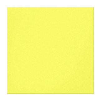 Neon Yellow Color Trend Blank Template Stretched Canvas Prints