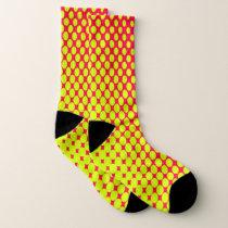 Neon Yellow Dots Pattern Socks