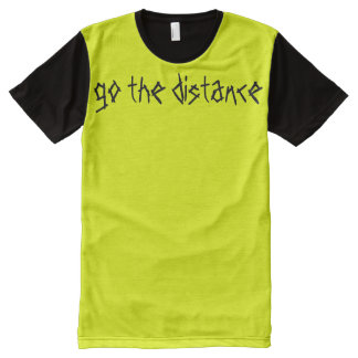 Neon Yellow Exercise Slogan Go TheDistance Vibrant All-Over-Print Shirt