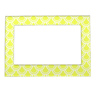 Neon Yellow Fish Scale Pattern Magnetic Frame
