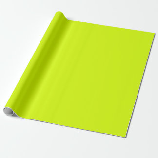 Neon Yellow-Green Flourescent Chartreuse Gift Wrap Paper