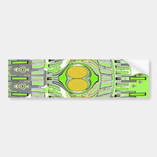 Neon yellow green superfly design car bumper sticker