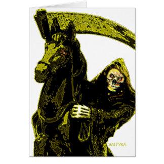 Neon Yellow Grim Reaper Horseman Series by Valpyra Card