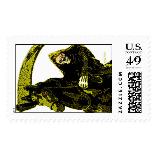 Neon Yellow Grim Reaper Horseman Series by Valpyra Stamp