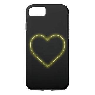 Neon Yellow Heart - Love Valentines iPhone 8/7 Case