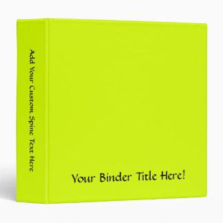 Neon Yellow, High Visibility Binder