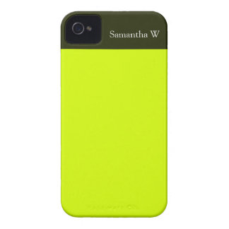Neon Yellow, High Visibility iPhone 4 Case