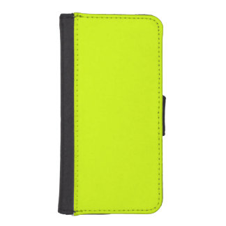 Neon Yellow, High Visibility Chartreuse iPhone SE/5/5s Wallet