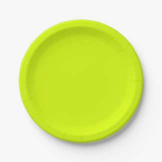 Neon Yellow, High Visibility Chartreuse 7 Inch Paper Plate