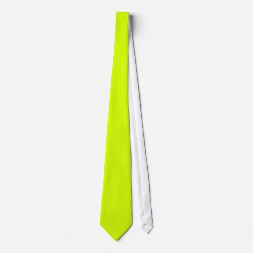 Neon Yellow, High Visibility Chartreuse Tie