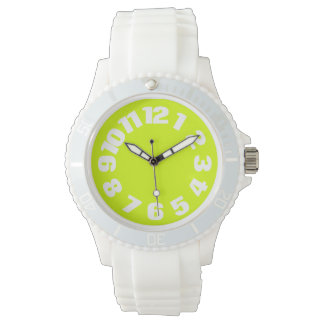 Neon Yellow, High Visibility Chartreuse Wristwatches