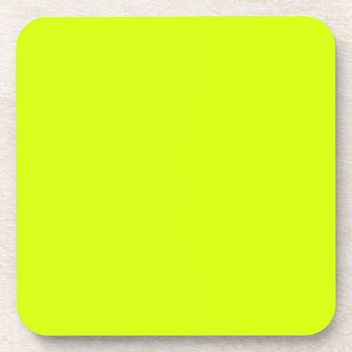 Neon Yellow, High Visibility Coaster