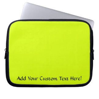 Neon Yellow, High Visibility Computer Sleeve