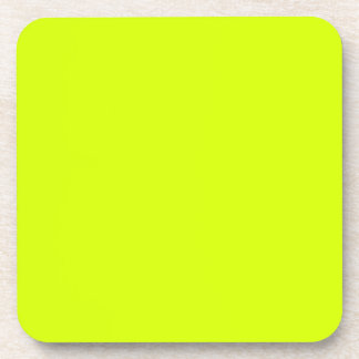 Neon Yellow, High Visibility Beverage Coaster